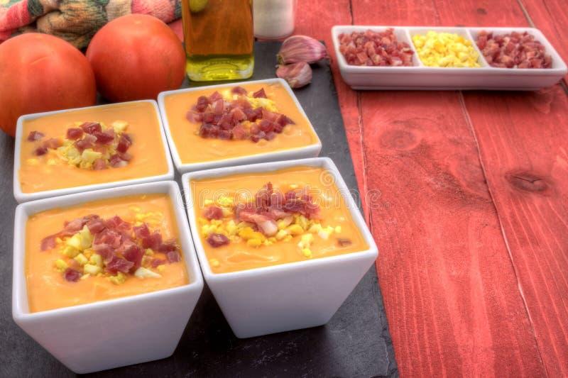 Download Salmorejo Tapas Dobra Horyzontalny Puszek Zdjęcie Stock - Obraz złożonej z jedzenie, andalusia: 57650590
