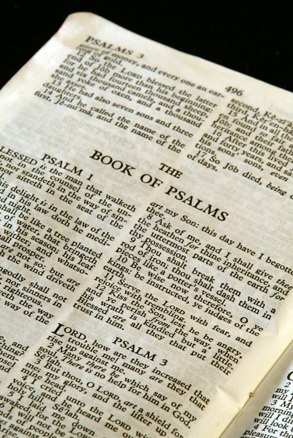 Salmos da série da Bíblia foto de stock