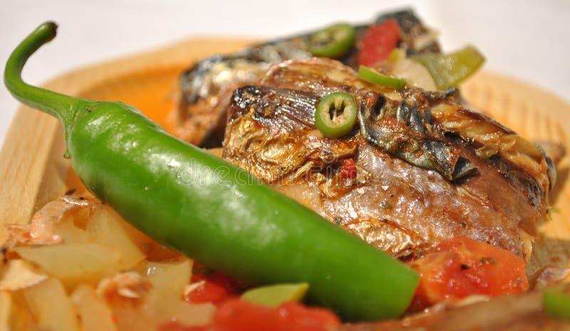 Salmoura dos peixes imagem de stock royalty free