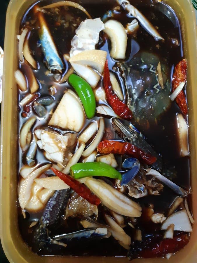 Salmueras del cangrejo del coreano de Yammy fotografía de archivo