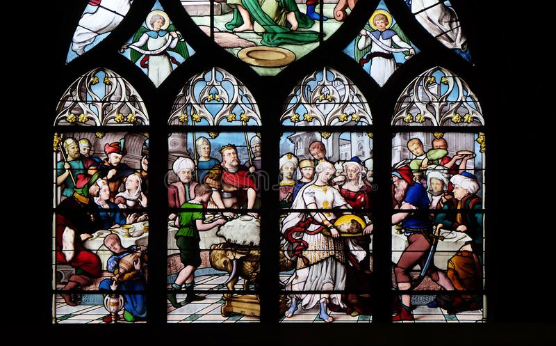 Salome Shows el jefe de St John el Bautista a Herod fotos de archivo libres de regalías