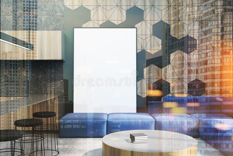 Salon, affiche et barre de modèle d'hexagone modifiés la tonalité illustration stock