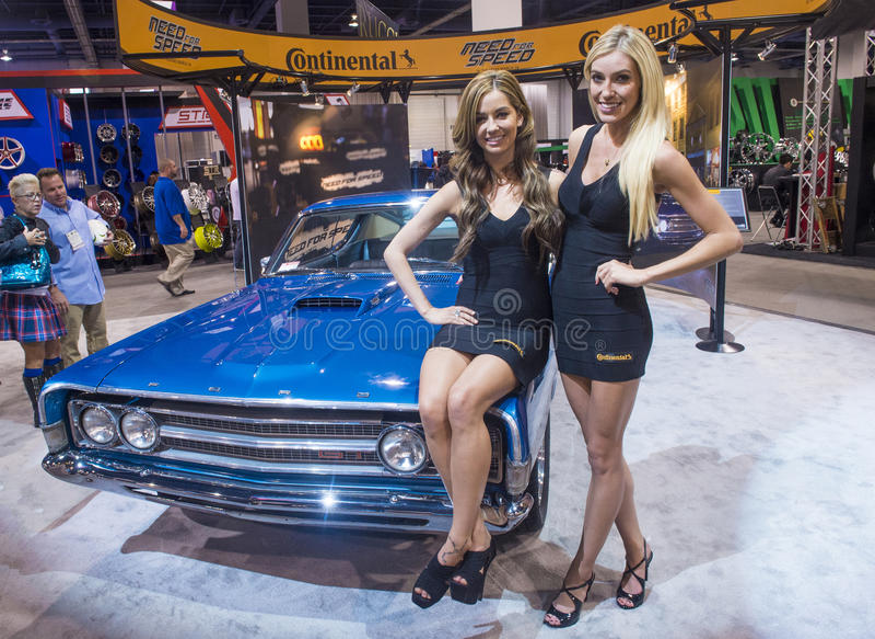 Salon automobile 2013 de SEMA images libres de droits