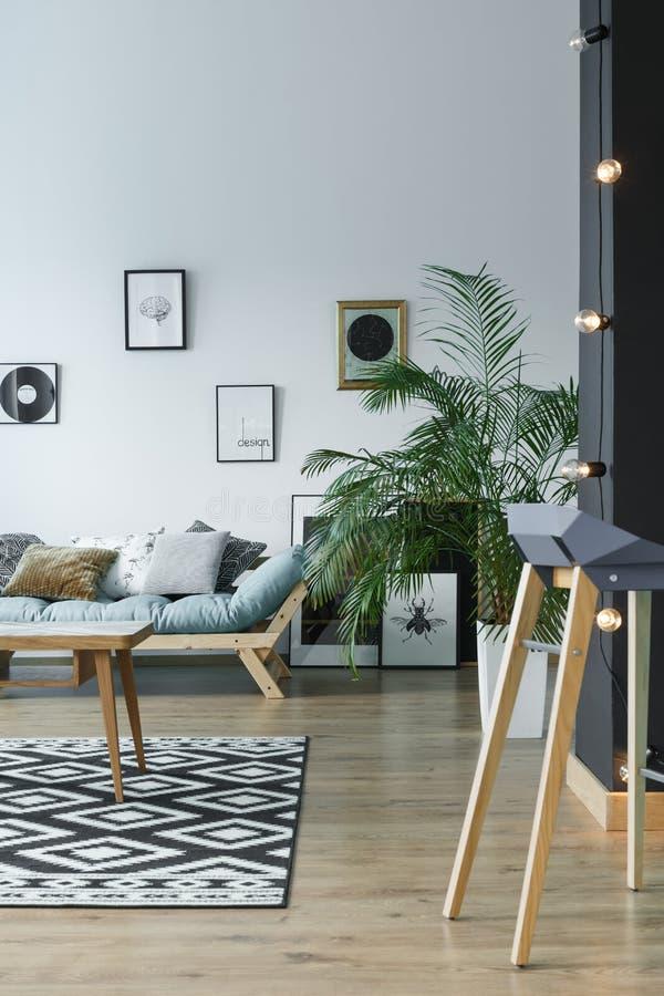 Salon aux nuances du gris images stock