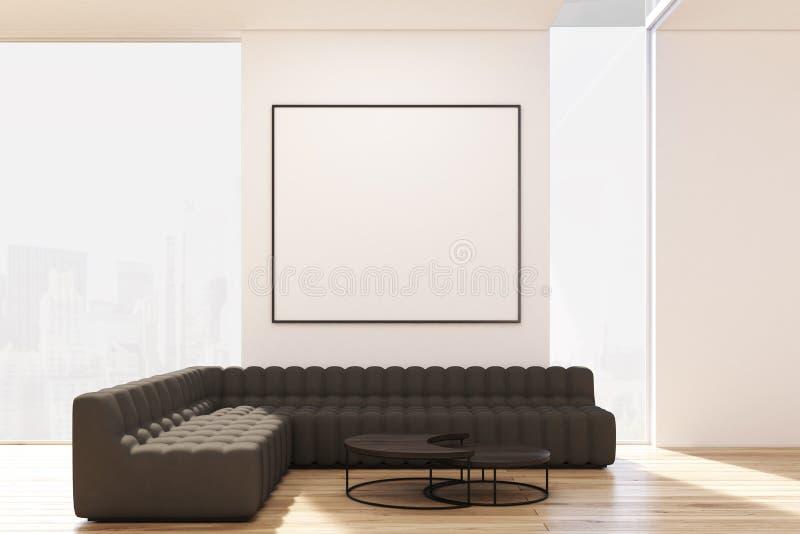 Salon avec deux sofas et affiches illustration libre de droits