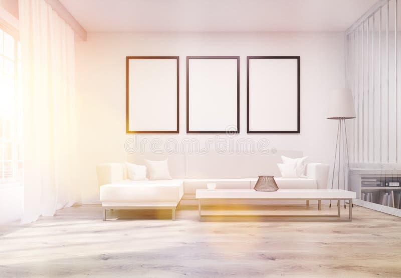 Salon avec la tonalité de cadres illustration stock