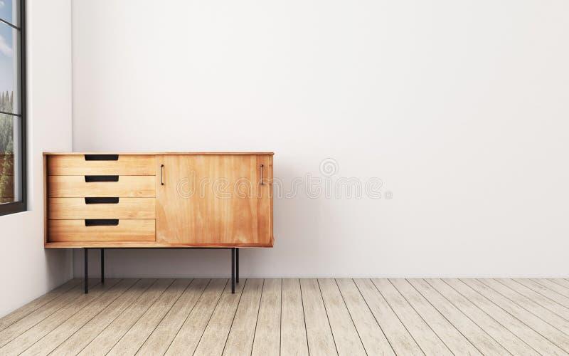 Salon avec le coffret E photo stock