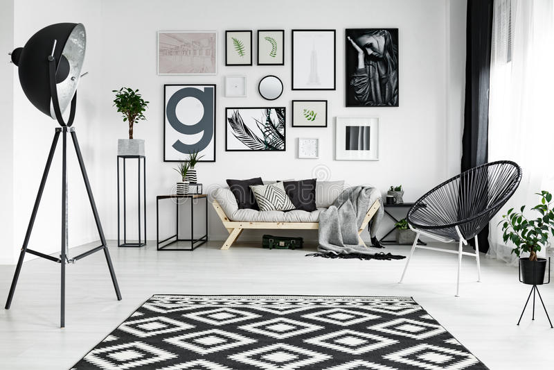 Salon blanc photographie stock
