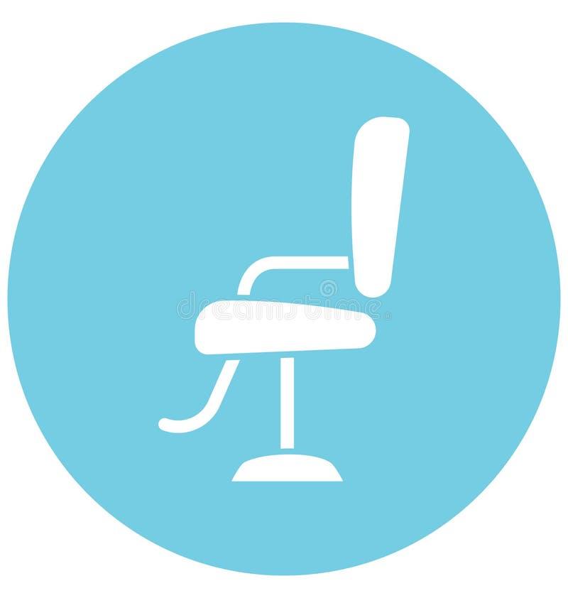 Salon Chair Isolate Vector Icon Editable stock illustration