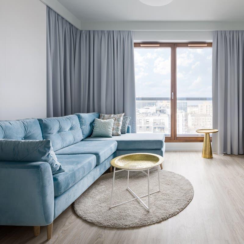 Salon Contemporain Dans Le Gris Image stock - Image du étage ...