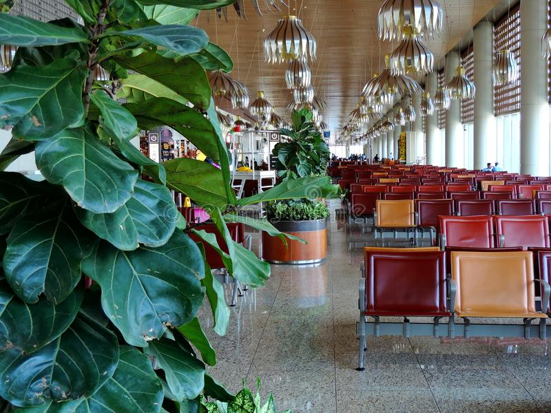 Salon de attente chez Chhatrapati Shivaji International Airport, Mumbai photo stock