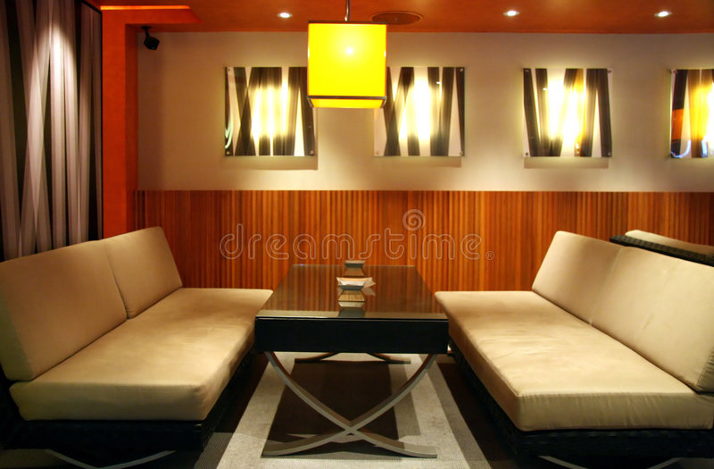 Salon de bar image stock