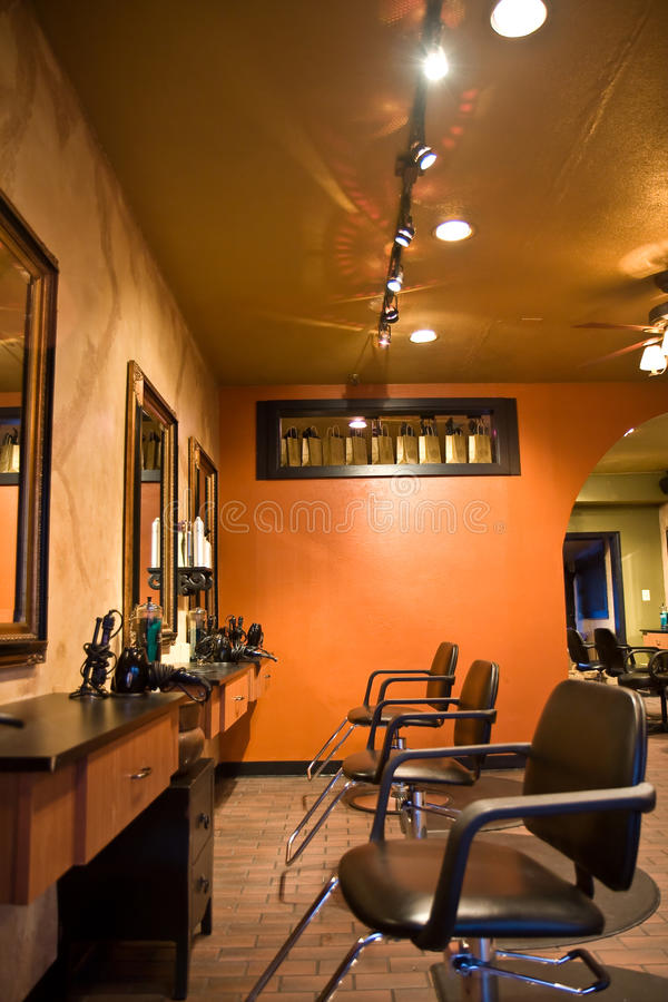 Salon de beauté image stock