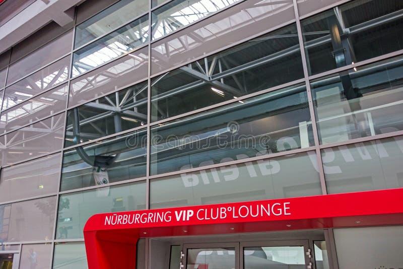 Salon de club de Nurburgring VIP de voie de course image libre de droits