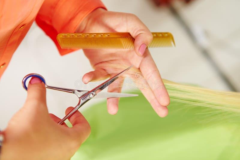 Salon de coiffure. Coupe de cheveux du ` s de femmes. Coupure. photo libre de droits