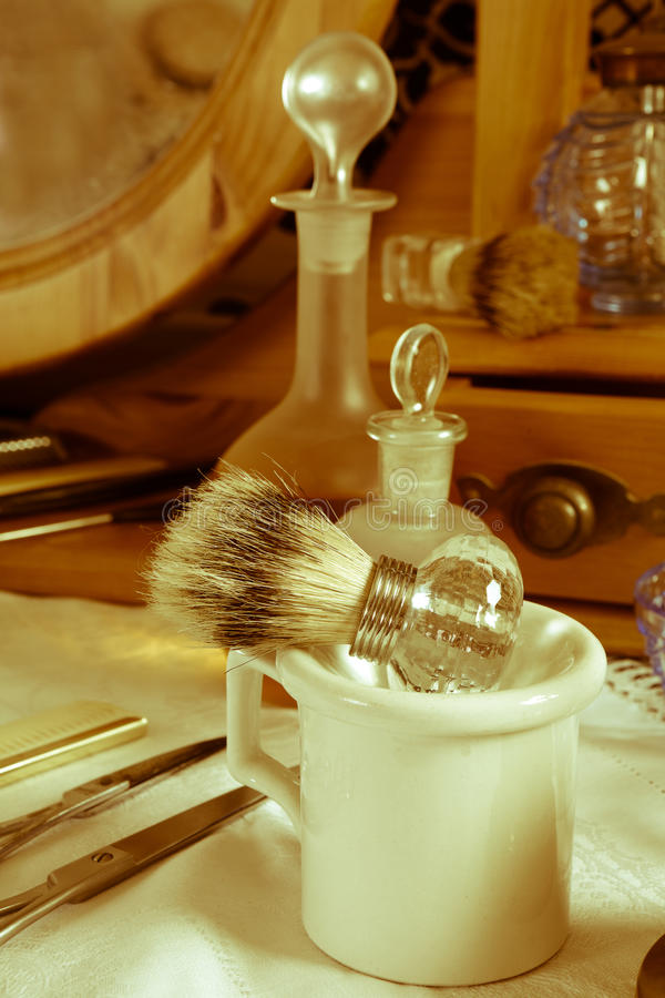 Salon de coiffure de vieilles périodes image libre de droits