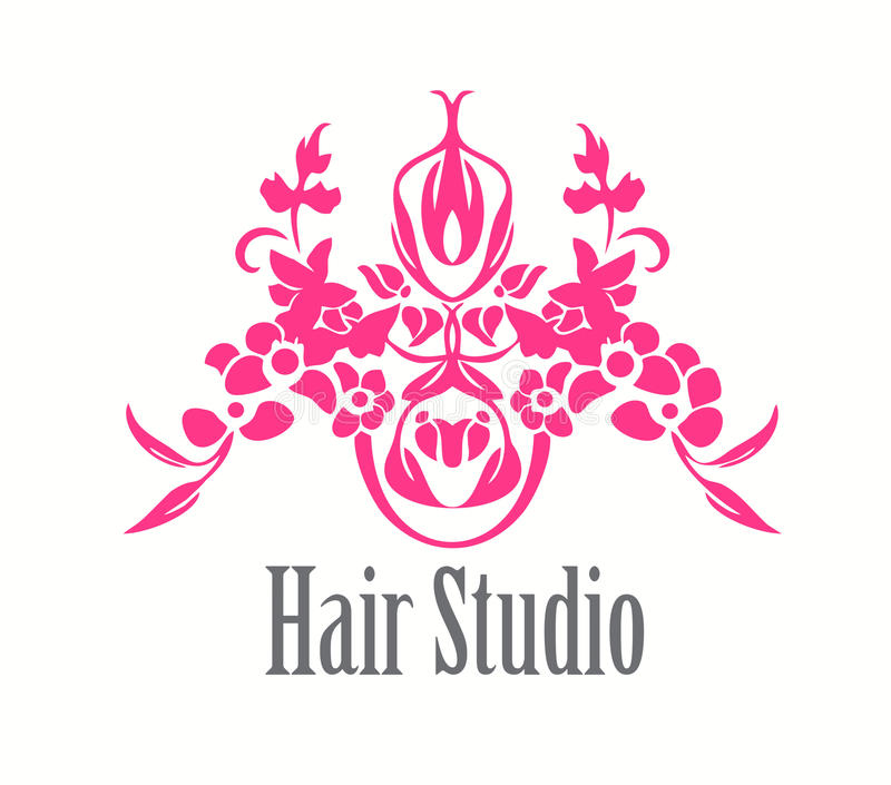 Salon de coiffure Logo Icon illustration libre de droits