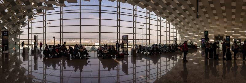 Salon de départ, aéroport international de Shenzhen, Chine image stock