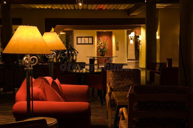 Salon de détente tranquille d'hôtel photo libre de droits