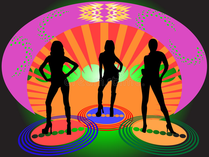 Salon de disco illustration stock