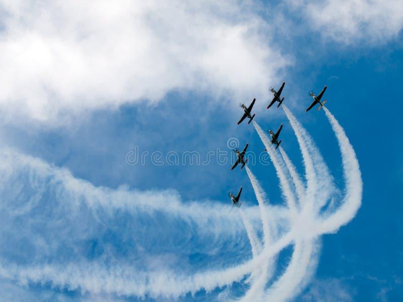 Salon de l'aéronautique photo libre de droits