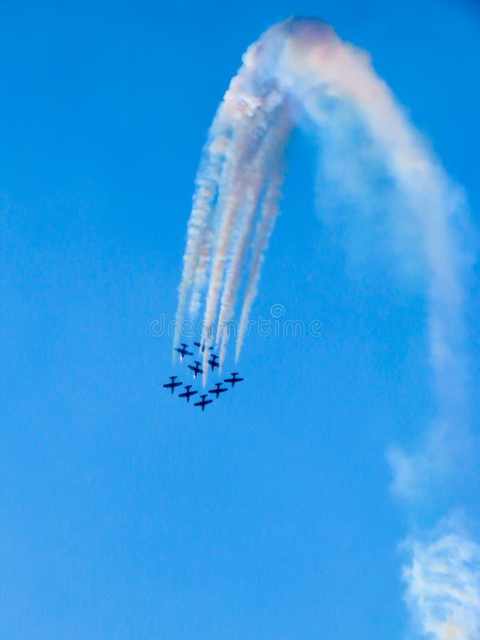 Download Salon De L'aéronautique Tricolore De Flèches Tirrenia, Pise, Italie, Le 11 Septembre, 2 Photographie éditorial - Image du ciel, acrobatique: 77161447