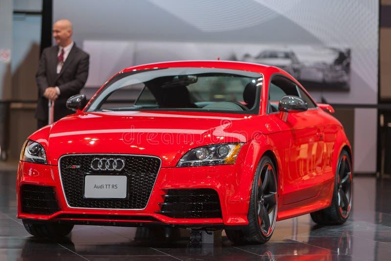 Salon de l'Auto 2013 d'Audi TTT RS Chicago photo libre de droits