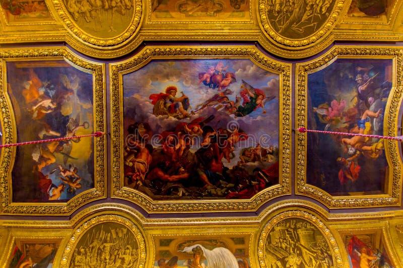 Salon de Mercure,凡尔赛宫,巴黎 图库摄影
