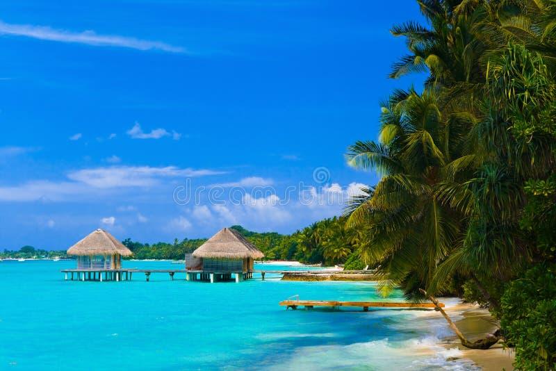 Salon de station thermale sur la plage image libre de droits