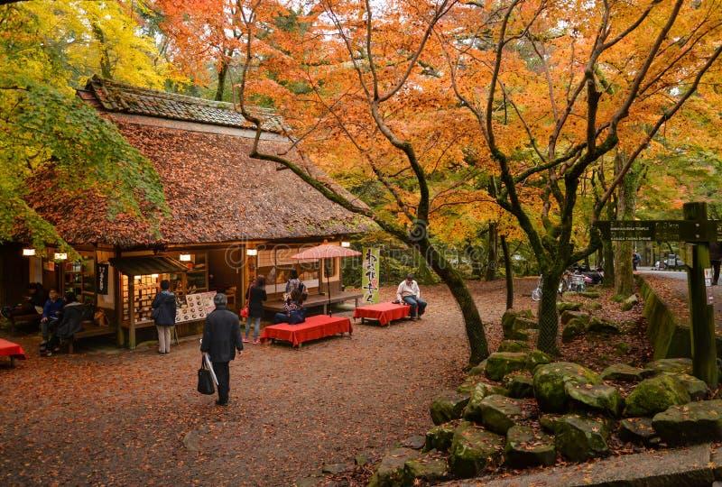 Salon de thé chez Nara Park, Japon photos stock