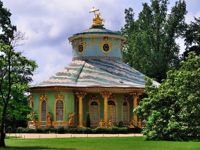 Salon de thé d'échines, Sanssouci, Potsdam photographie stock libre de droits