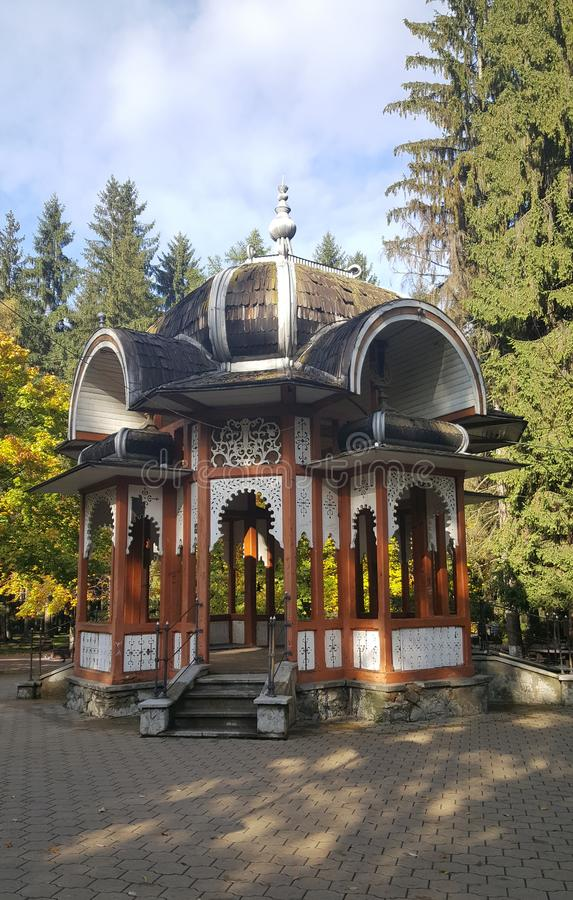 Salon du Parc en Vatra Dornei Rumania imagen de archivo