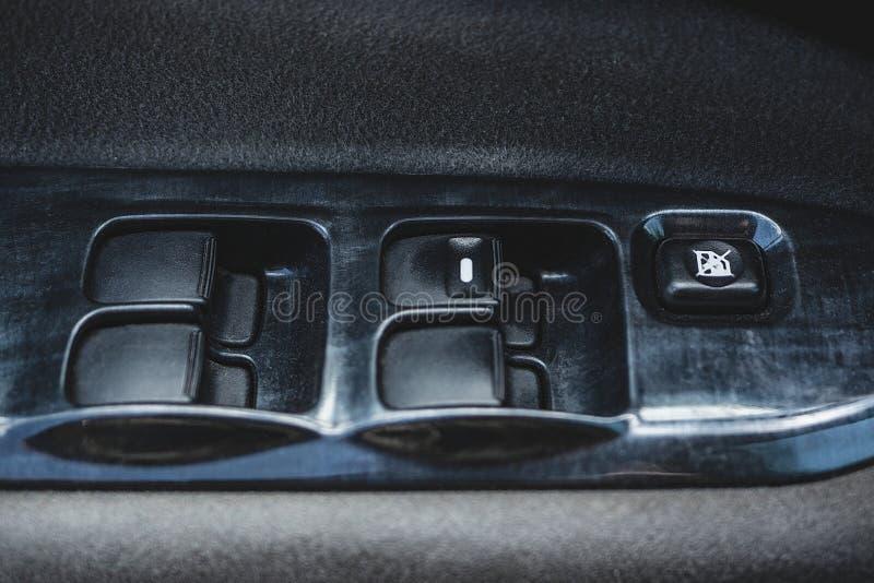 Salon eines Autos, Teile vom Leder und Plastik lizenzfreie stockfotografie