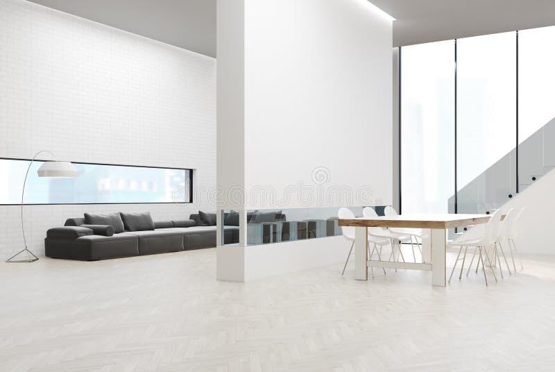 Salon gris de sofa avec une table illustration libre de droits