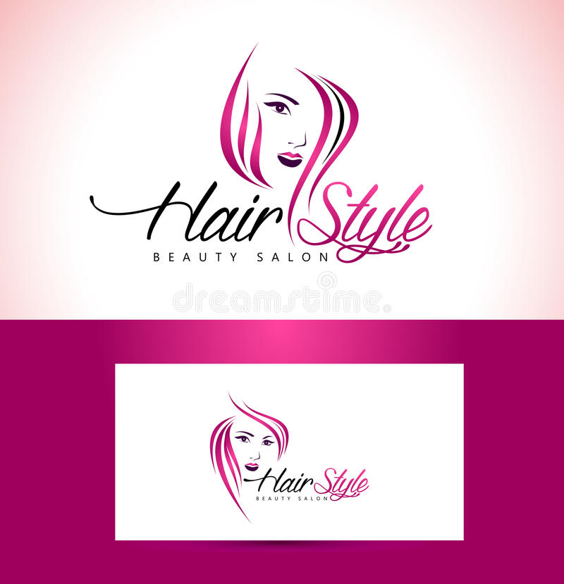 Salon Logo Design de coiffure illustration libre de droits