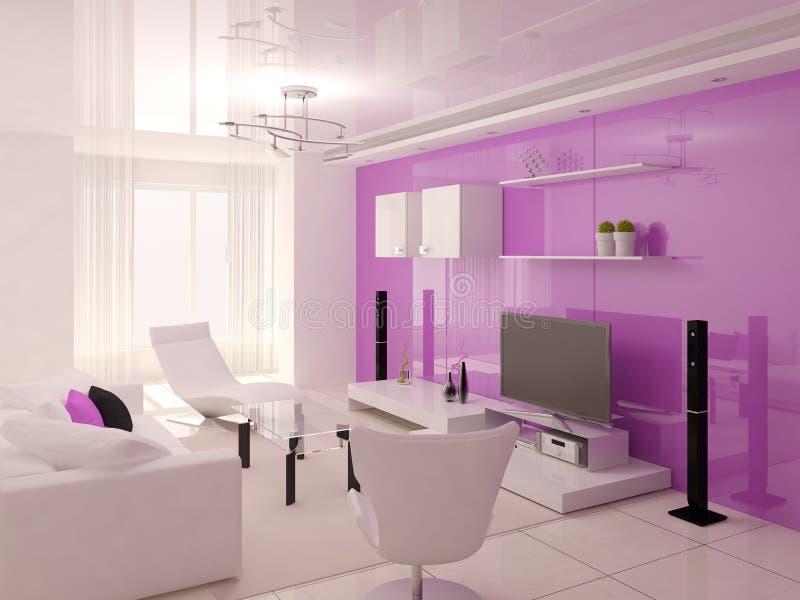 Salon lumineux et spacieux illustration stock