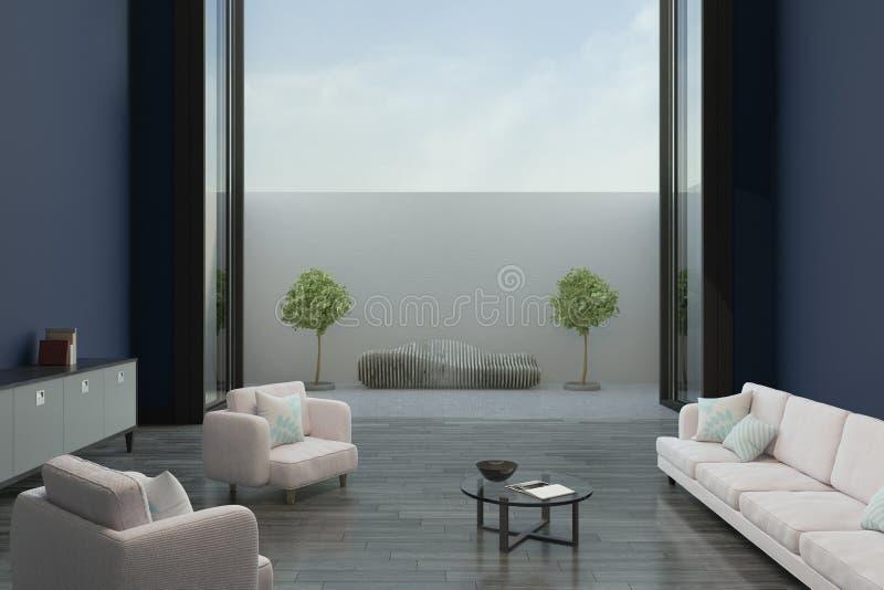 Salon minimalistic moderne illustration libre de droits