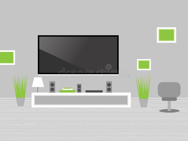 Salon moderne avec la TV photographie stock libre de droits
