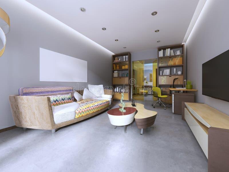 Salon moderne dans le style de kitsch illustration de vecteur