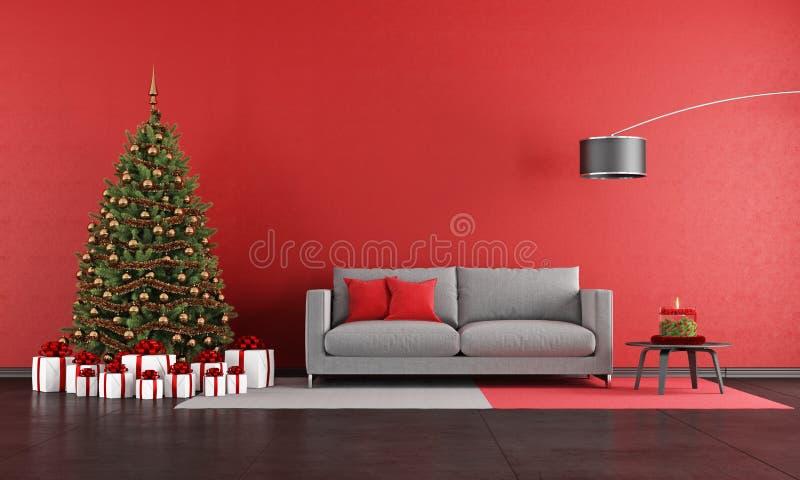 Salon moderne de Noël illustration de vecteur