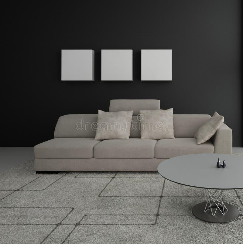 Salon moderne | Intérieur d'architecture illustration stock