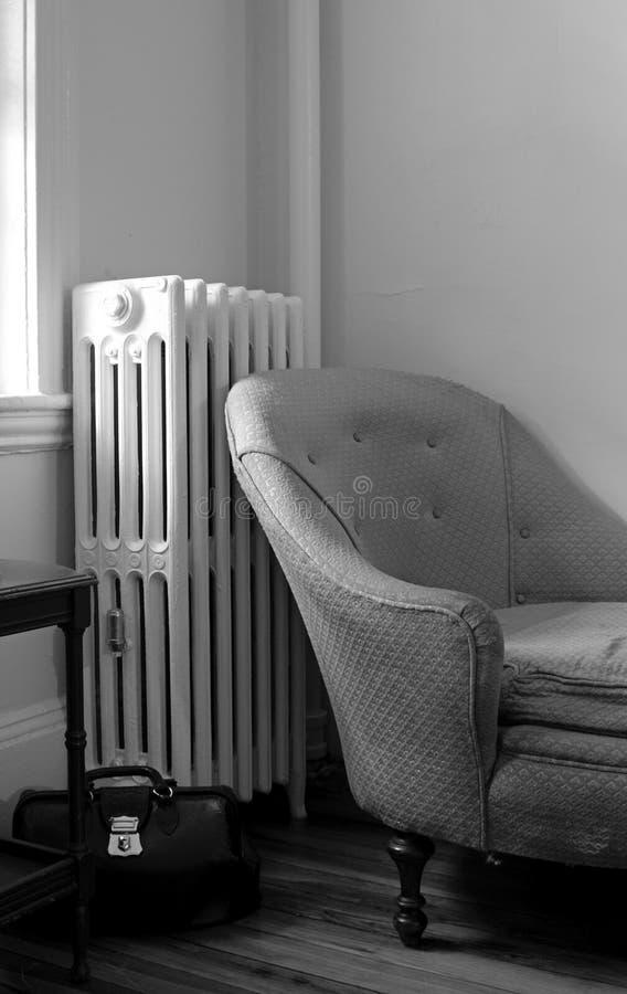 Salon noir et blanc photo stock