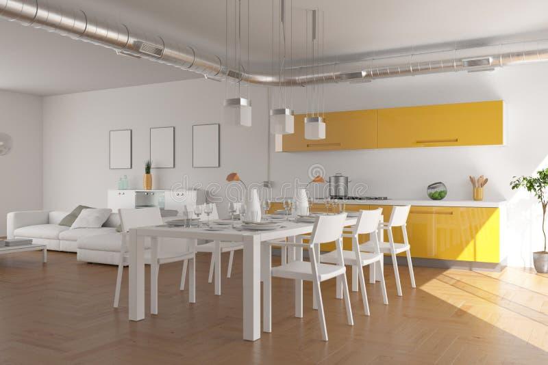 Salon skandinavian lumineux moderne de conception intérieure photos stock