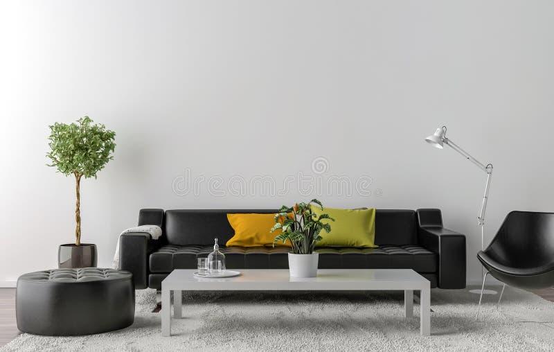 salon mur blanc free ides dco pour un salon avec une bibliothque ou un coin lecture ouvert avec. Black Bedroom Furniture Sets. Home Design Ideas
