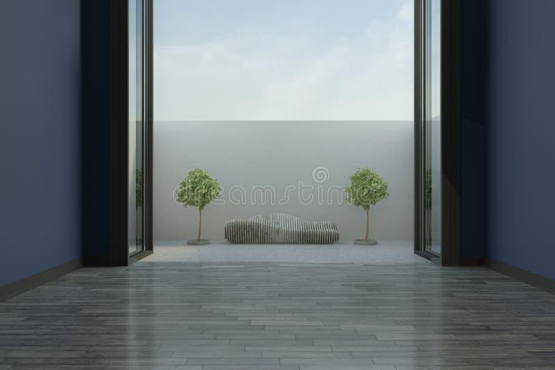 Salon vide moderne illustration de vecteur