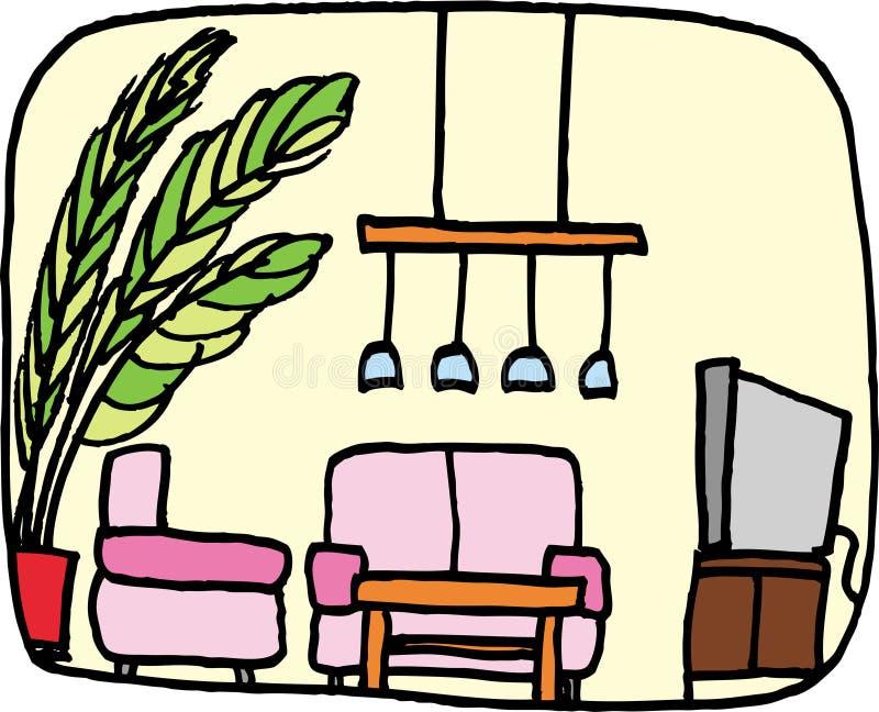 Salone illustrazione di stock