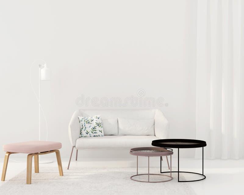 Salone bianco in uno stile moderno illustrazione di stock