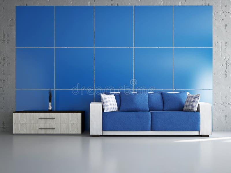 Salone con il sofà immagini stock