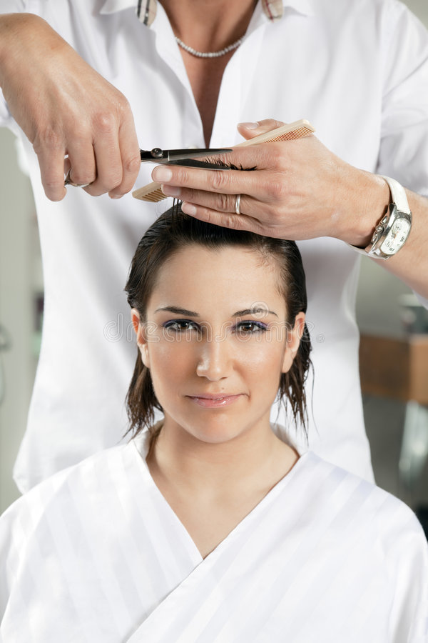 Salone di capelli fotografia stock