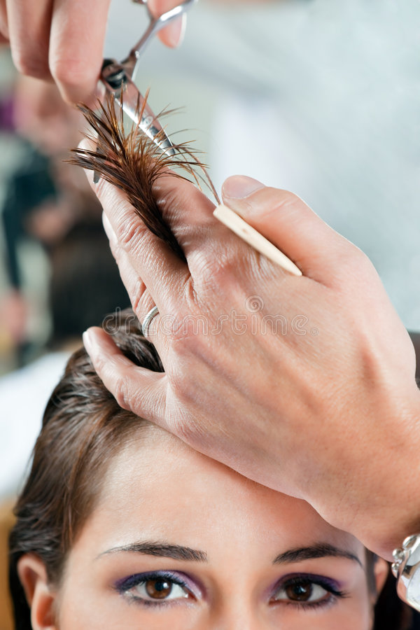 Salone di capelli fotografia stock libera da diritti